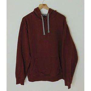 North Face L Pullover Hoodie Sweatshirt Maroon